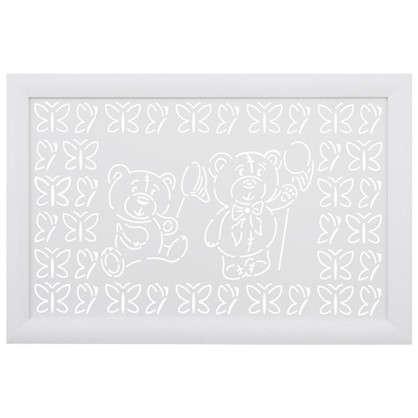 Экран для радиатора Мишки 90х60 см цвет белый