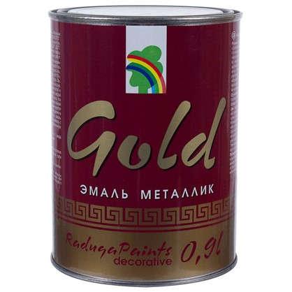 Эмаль акриловая золотой металлик Р-117 0.9 л