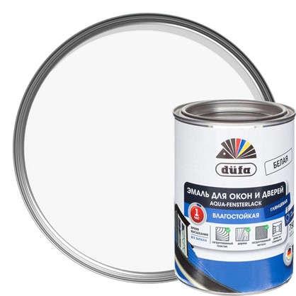 Эмаль для окон Dufa Aqua-Fensterlack цвет белый 0.75 л