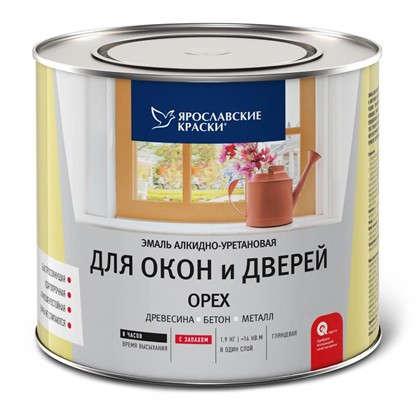 Эмаль для окон и дверей цвет орех 1.9 кг