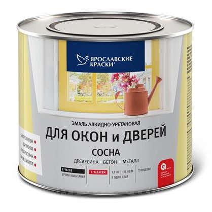 Эмаль для окон и дверей цвет сосна 1.9 кг