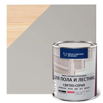 Эмаль для пола и лестниц 0.9 кг цвет светло-серый