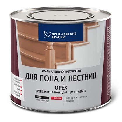 Эмаль для пола и лестниц 1.9 кг цвет орех