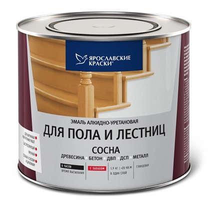 Эмаль для пола и лестниц 1.9 кг цвет сосна