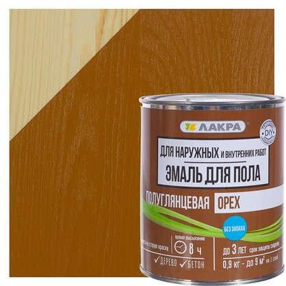 Эмаль для пола Лакра DIY цвет орех 0.9 кг