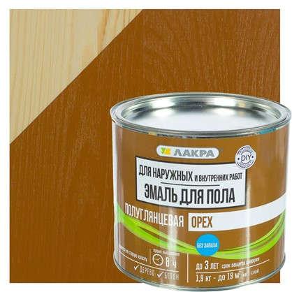Эмаль для пола Лакра DIY цвет орех 1.9 кг