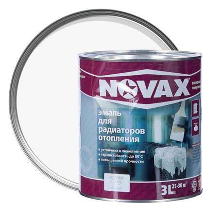 Эмаль для радиаторов Novax цвет белый 3 л