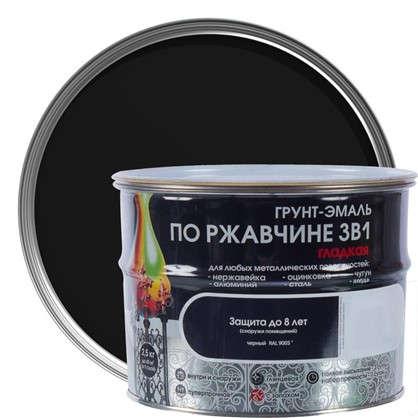 Эмаль гладкая Dali 3в1 цвет черный 2.5 кг