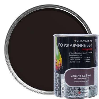 Эмаль гладкая Dali 3в1 цвет коричневый 0.8 кг