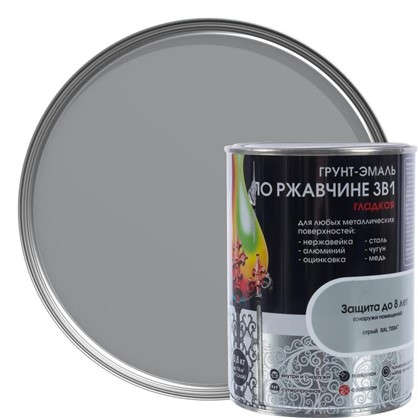 Эмаль гладкая Dali 3в1 цвет серый 0.8 кг
