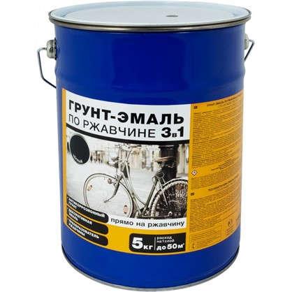 Эмаль-грунт по ржавчине 3в1 цвет черный 5 кг