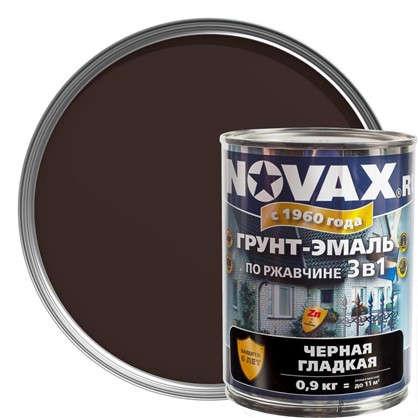 Эмаль-грунт по ржавчине Novax 3в1 цвет темно-коричневый 0.9 кг