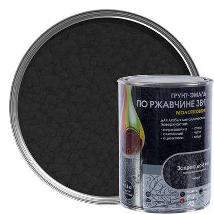 Эмаль молотковая Dali 3в1 цвет черный 0.8 кг