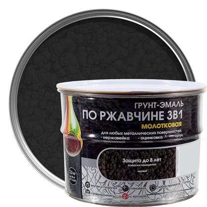 Эмаль молотковая Dali 3в1 цвет черный 2.5 кг