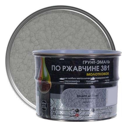 Эмаль молотковая Dali 3в1 цвет серебряный 2.5 кг