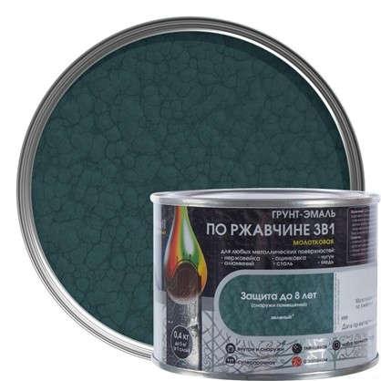 Эмаль молотковая Dali 3в1 цвет зеленый 0.4 кг