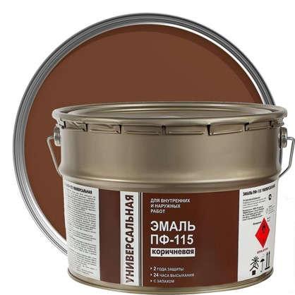 Эмаль ПФ-115 Эконом цвет коричневый 9 кг
