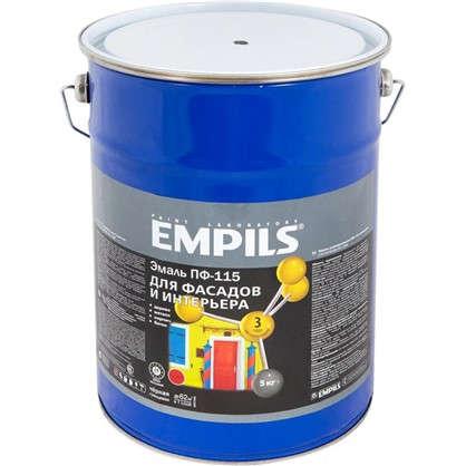 Эмаль ПФ-115 Empils PL 5 кг цвет черный