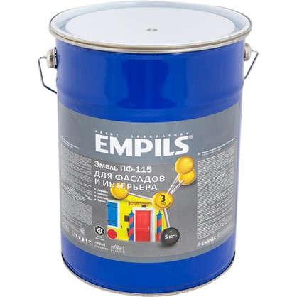 Эмаль ПФ-115 Empils PL 5 кг цвет серый