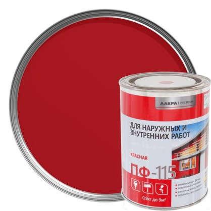 Эмаль ПФ-115 Лакра DIY цвет красный 0.9 кг