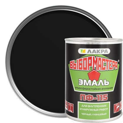 Эмаль ПФ-115 Выбор Мастера цвет черный0.9 кг