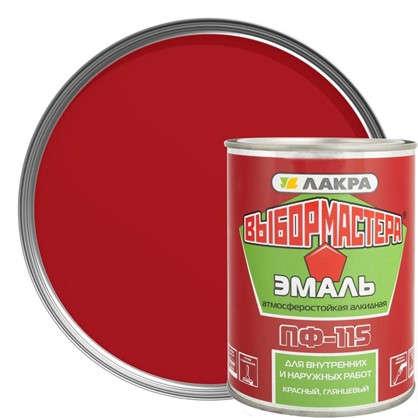 Эмаль ПФ-115 Выбор Мастера цвет красный 0.9 кг