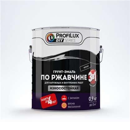 Эмаль по ржавчине 3в1 цвет черный 0.9 кг
