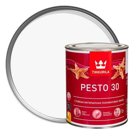 Эмаль Tikkurila Песто 30 цвет белый 0.9 л