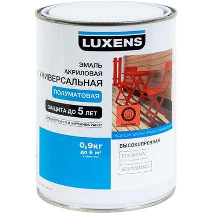 Эмаль универсальная Luxens 0.9 кг коралловый