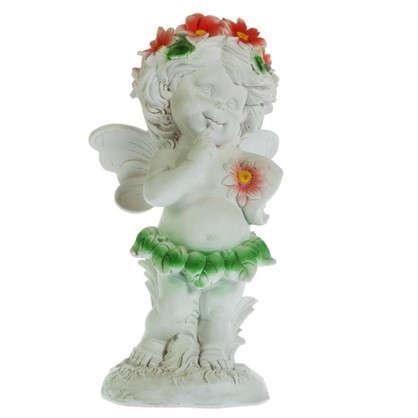 Садовая фигура Ангел в цветах высота 43 см