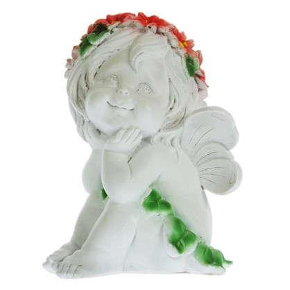 Садовая фигура Ангелочек-мечтатель высота 29 см