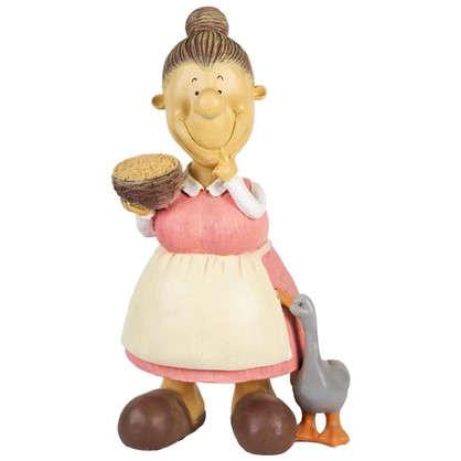Садовая фигура Бабка с пшеницей высота 60 см