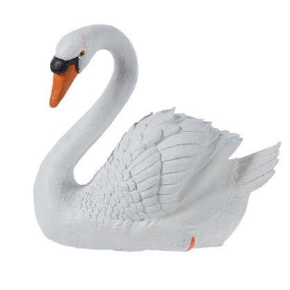 Садовая фигура Лебедь белый высота 35 см