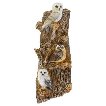 Садовая фигура навесная Совы на дереве h67 см