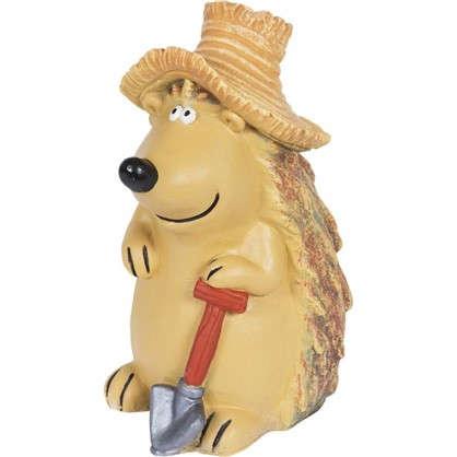 Садовая фигура Ёжик в шляпе с лопатой высота 43 см