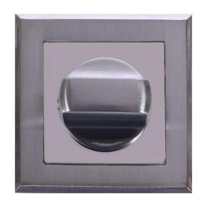Фиксатор-вертушка для дверей Palladium RS SC/CP BK ЦАМ цвет матовый хром/хром
