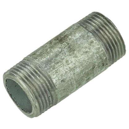 Фитинг резьбовой оцинкованный наружняя резьба 3/4х60 мм сталь