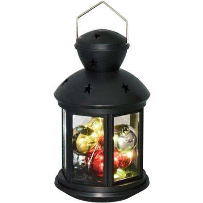 Фонарь Uniel 12х20 см RGB цвет черный
