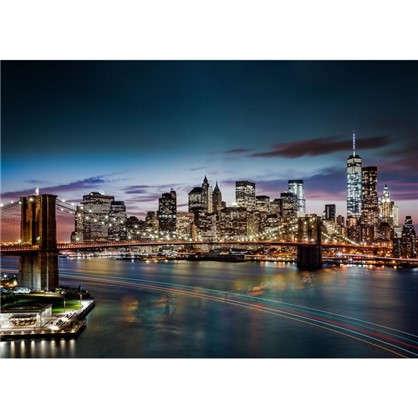 Фотообои бумажные Ночной Нью-Йорк 368x254 см