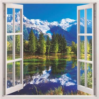 Фотообои бумажные Окно 139х139 cм