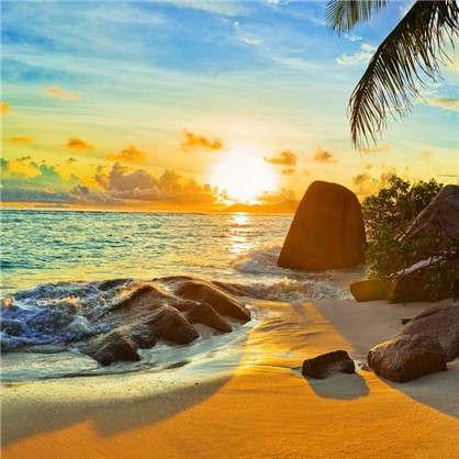 Фотообои флизелиновые Дикий пляж 200х200 см