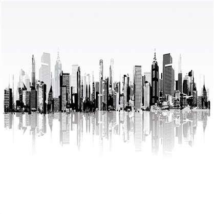 Фотообои флизелиновые Город 200х200 см