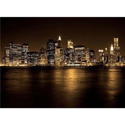 Фотообои флизелиновые Ночной город 370х270 см