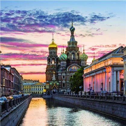 Фотообои флизелиновые Санкт-Петербург 200х200 cм