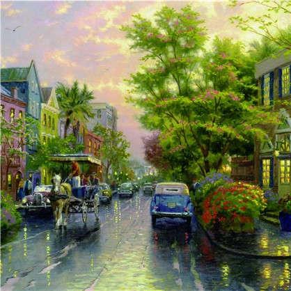 Фотообои флизелиновые Улица 200х200 cм