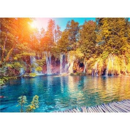 Фотообои флизелиновые Водопад 370х270 см