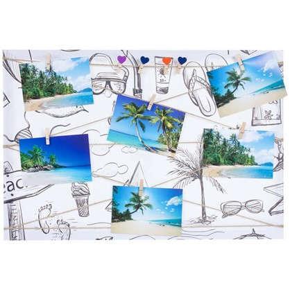 Фотосет Отпуск с прищепками 40х60 см цвет черно-белый