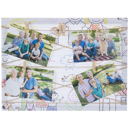 Фотосет Семья с прищепками 30х40 см