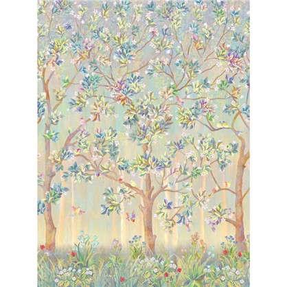Фреска флизелиновая Дерево с птицами 200х270 см