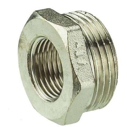 Футорка Valtec наружная-внутренняя резьба 1x1/2 мм никелированная латунь